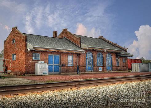 Train Station in Wapakoneta Ohio by Pamela Baker