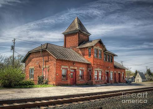 Train Station of Delaware Ohio by Pamela Baker