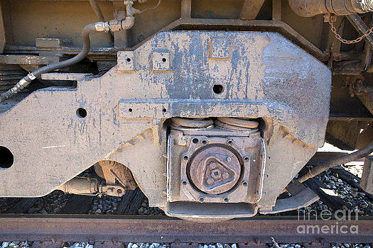 Train Wheel by Russell Christie