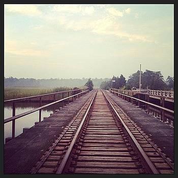 #traintracks #bridge #railroad #morning by A Loving