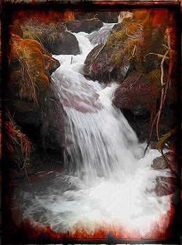 Tranquil Waterfall by P Donovan