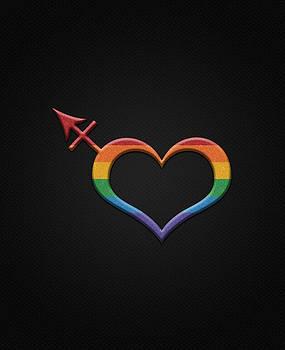 Transgender Pride Symbol in Rainbow Colors by Tavia Starfire