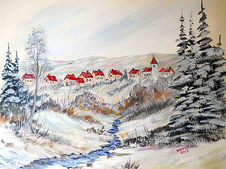 Transylvanian Village in Winter by Dorothy Maier