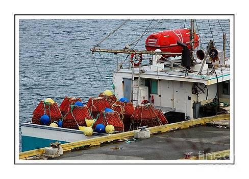 Barbara Griffin - Traps and Buoys Ready for Crab Fishing 2 with Borders