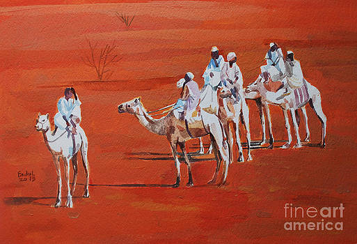 Travel by camels by Mohamed Fadul