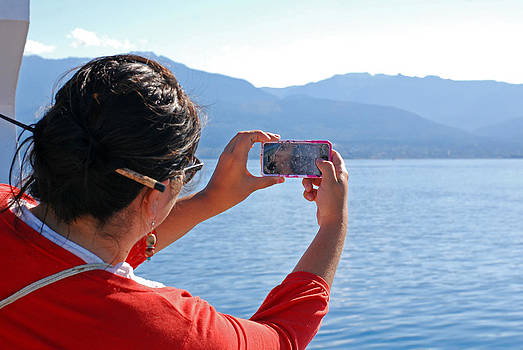 Connie Fox - Traveler Taking Pictures From the Ship