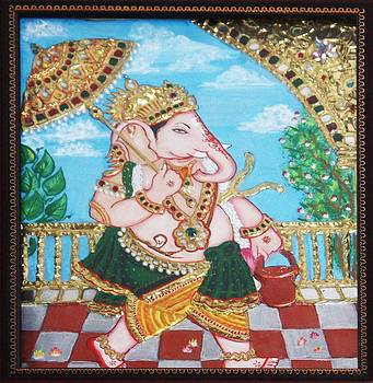 Travelling Ganesh by Jayashree