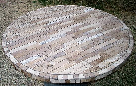 Travertine Table Top by Patrick Trotter