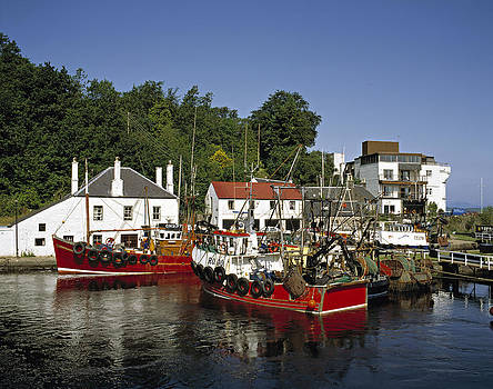 Trawlers at Crinan Scotland UK by David Davies
