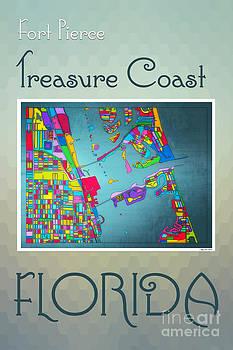 Treasure Coast Map by Megan Dirsa-DuBois