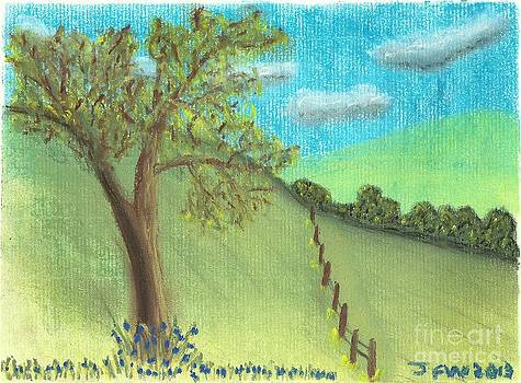 Tree by the hill by John Williams