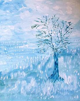 Tree In Blue by Victoria Dutu