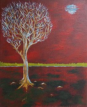 Tree in Moonlight by Zeke Nord