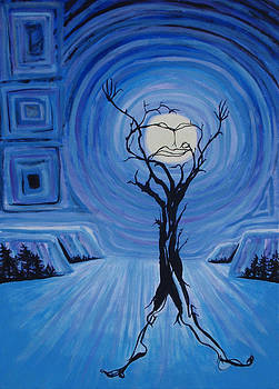 Tree Man-in-the-Moon with Jazz Hands by Christine Peterson