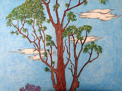 Tree Middle 2 of 3 by Gregory Carrico
