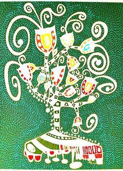 Tree of Life in Green by Sandra Perez-Ramos