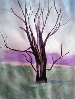 Tree Watercolor by Loretta Nash