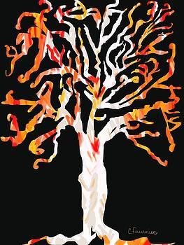 Treed Autum by Christine Fournier