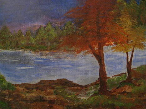 Trees Along the Riverbed by April Maisano