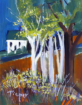 Betty Pieper - Trees and White Farm House