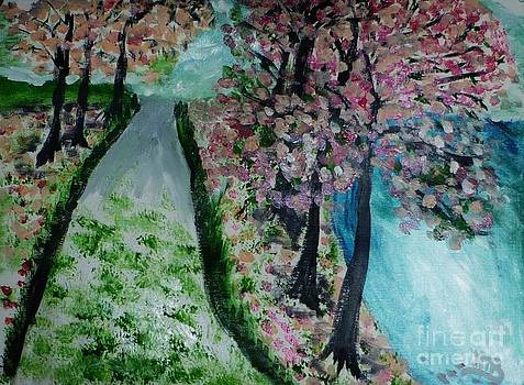 Trees In Bloom by Marie Bulger