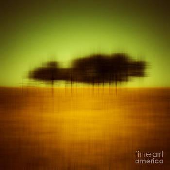 Trees in Wheatfield by Emilio Lovisa
