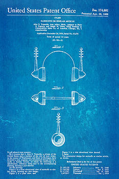 Ian Monk - Tremulis Earmuffs Patent Art 1955 Blueprint