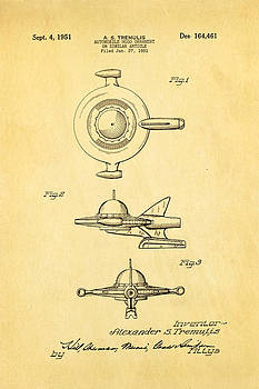 Ian Monk - Tremulis Spaceship Hood Ornament Patent Art 1951