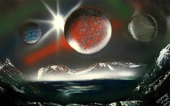 Tri Planets by Sherry Chick