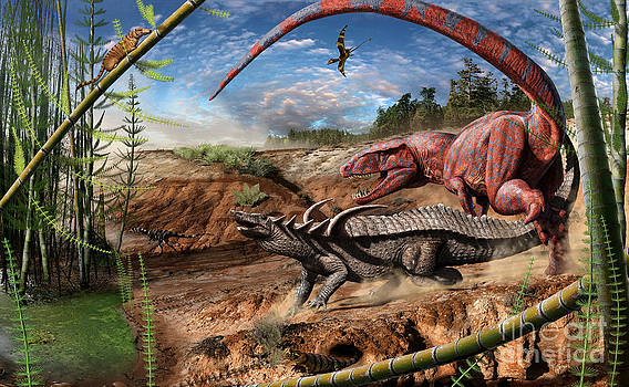 Triassic mural 2 by Julius Csotonyi