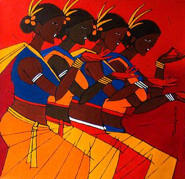 Tribal Dance by Jiaur Rahman