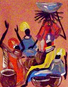 Tribal Gathering by Lynette  Swart