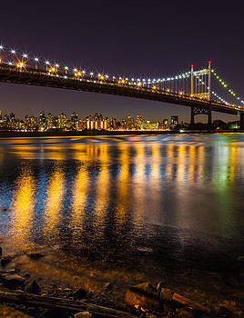 Triborough at Night by Chris Halford