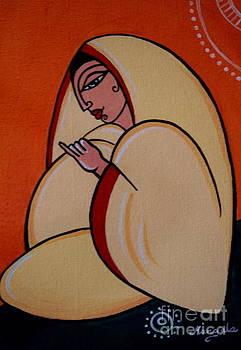 Tribute to Jamini Roy.Mother. by Mangala Shenoy