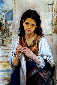 tricoteuse after W. Bouguereau by Hidemi Tada