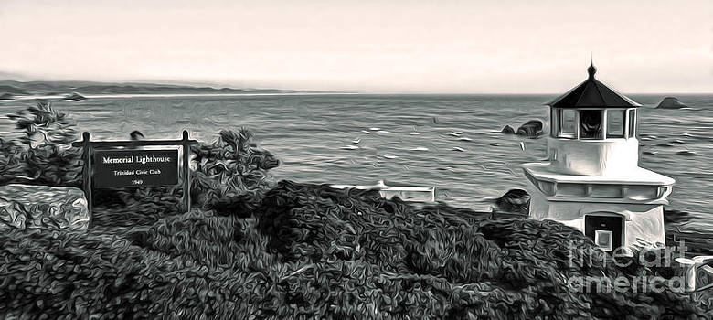 Gregory Dyer - Trinidad California - Lighthouse - sepia tone