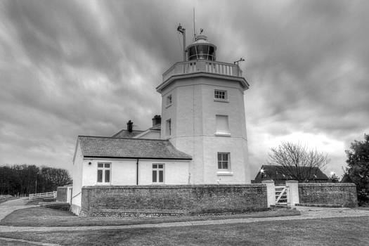 David French - Trinity House Lighthouse BW