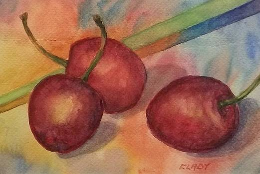 Trio of Cherries by Mary Ann Clady