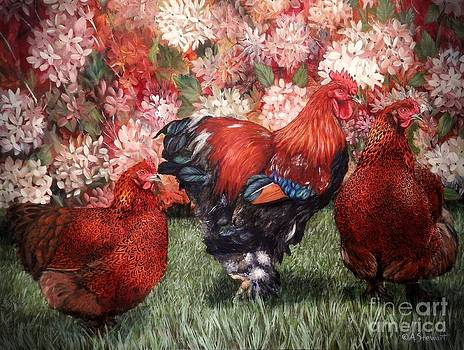 Trio Partridge Cochins by Amanda Hukill