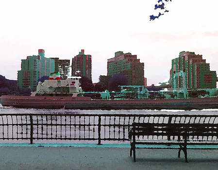 Trip up the East River New York by Max Kutz
