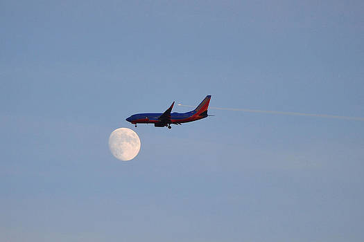 Southwest Airlines Flies To The Moon by Kelly Reber