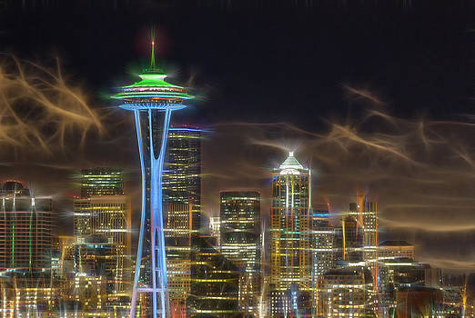 Tripped out Space Needle by David Williams