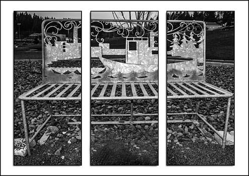 Triptych Park Bench by Steven Brodhecker