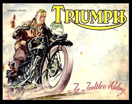 Larry Lamb - Triumph motorcycle advertising