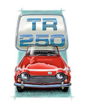Triumph TR-250 Sportscar in Red by David Kyte