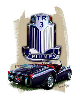 Triumph TR-3 Sportscar by David Kyte