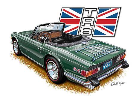 Triumph TR-6 British Racing Green by David Kyte