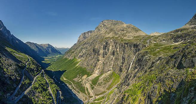 Trollstigen from the Very Top by Angela A Stanton