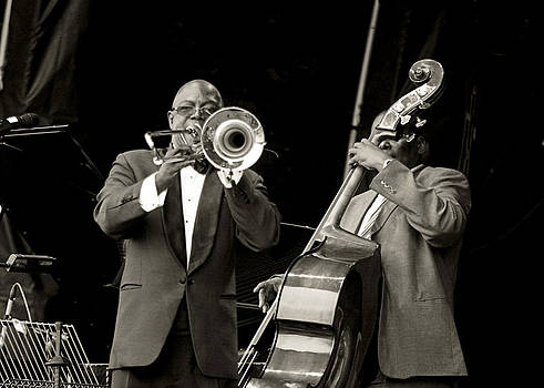 Trombone and bass by Tony Reddington