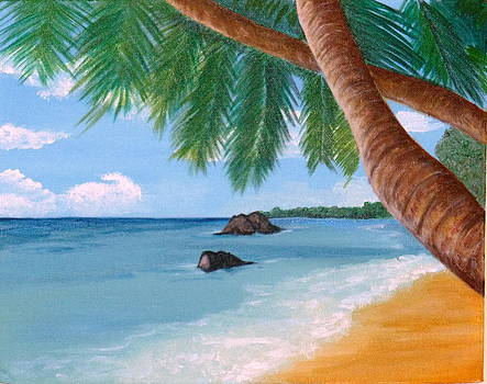 Tropical Beach #2 by Nancy Nuce